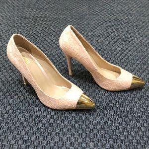 ShoeDazzle * Pink Lace heels * Size 9.5